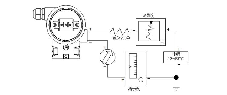智能差压变送器非智能型现场导线连接