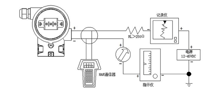 智能差压变送器智能型现场导线连接