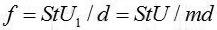 涡街流量计公式