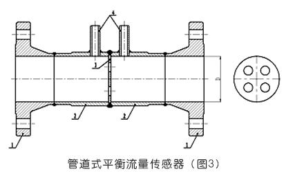 必威_管道式平衡流量计传感器示意图