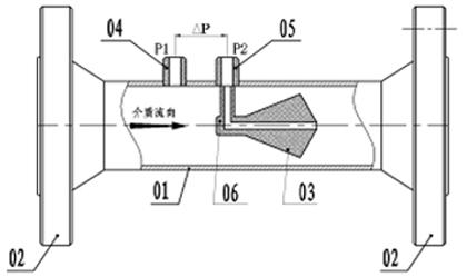 V锥流量计传感器结构
