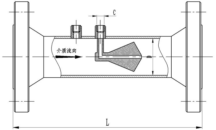 V锥流量计产品外形尺寸