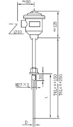 固定螺纹隔爆铠装热电阻
