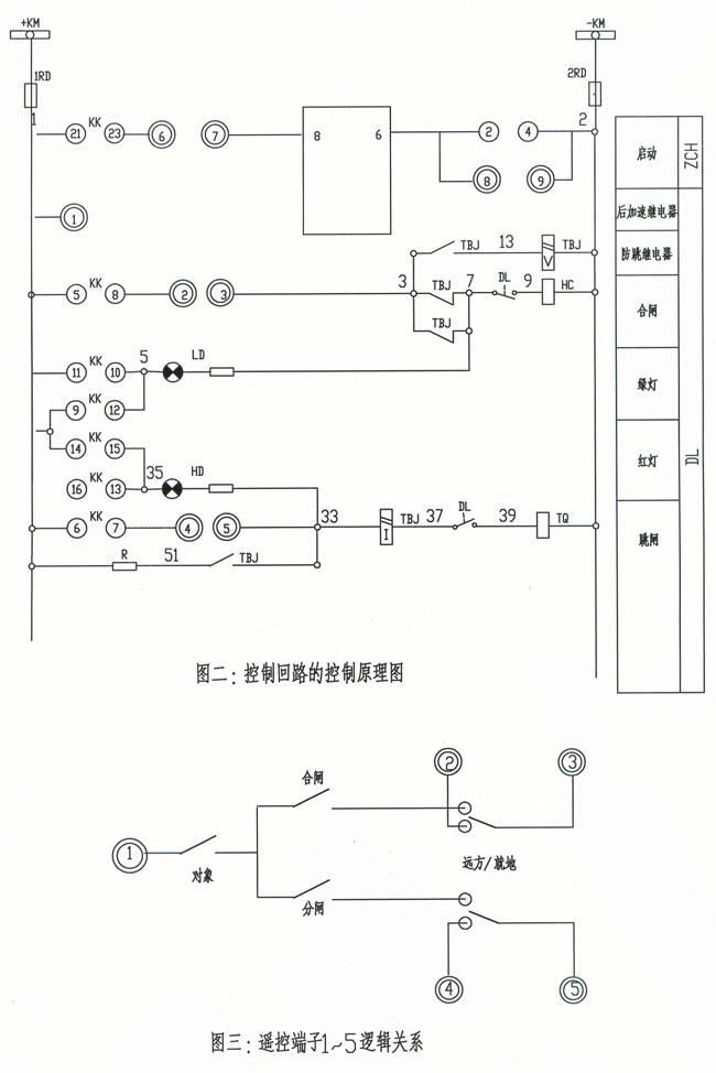 控制回路采用控制开关具有固定位置的不对应接线和双灯制的灯光监视